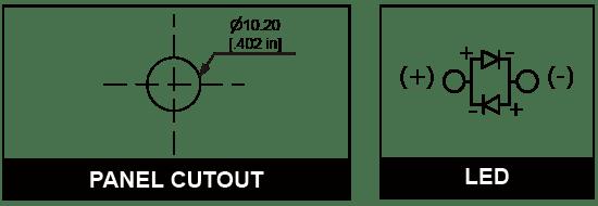 10mm Anti vandal pilot indicator