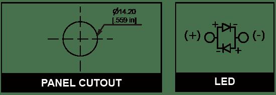 14mm Anti vandal pilot indicator