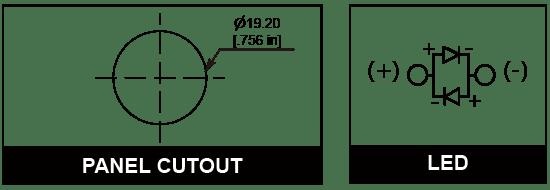 19mm Anti vandal pilot indicator