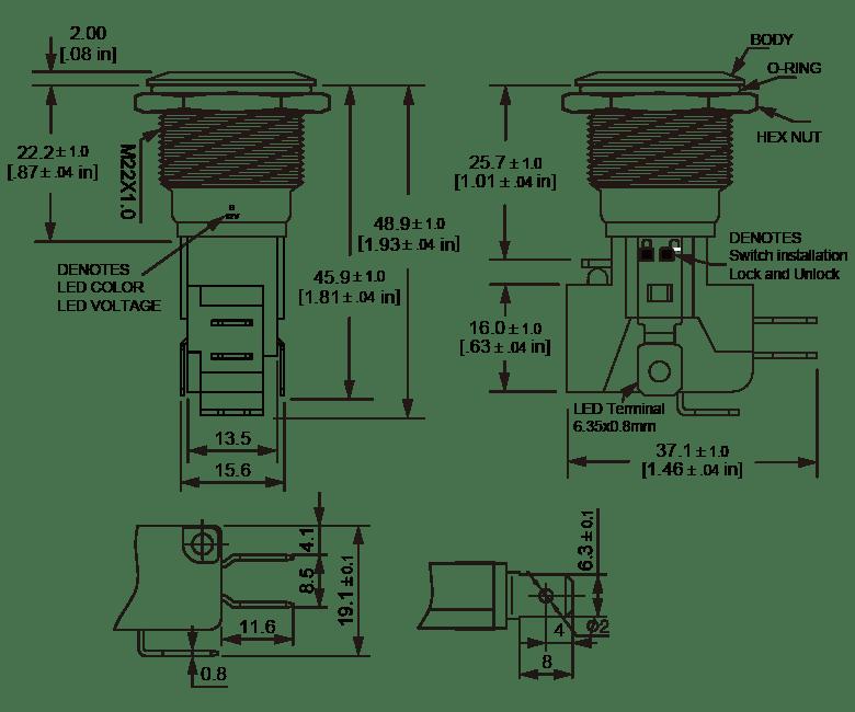 L22B High current anti vandal switch