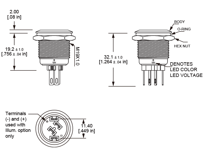 L19M Anti vandal switch