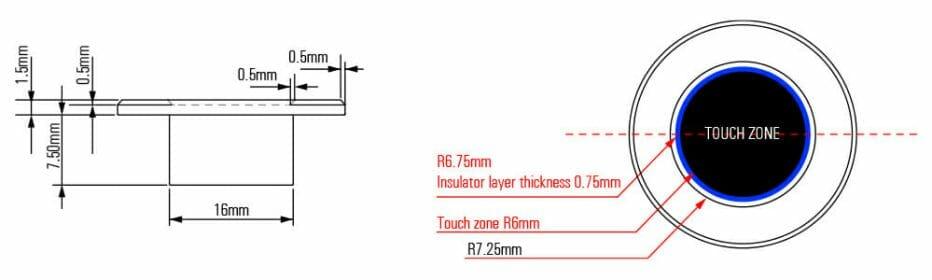 super-short-capacitive-switch-dimension