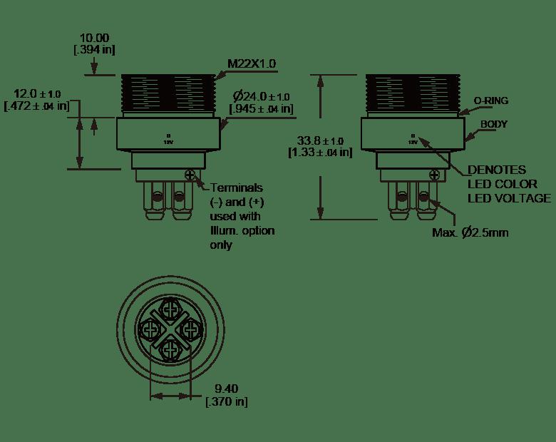 L22O Rear Mounting Anti vandal switch