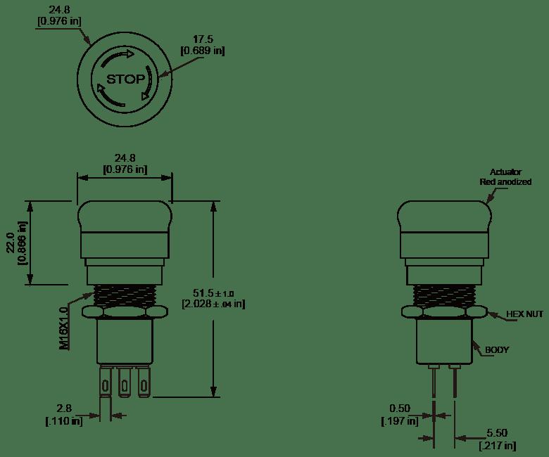 ES16 Emergency Stop Switch